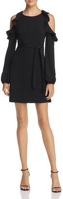 AQUA Cold-Shoulder Tie-Waist Dress - 100% Exclusive $78 thestylecure.com
