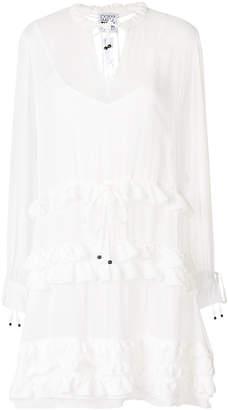 Twin-Set ruffled shirt dress
