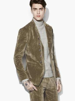 John Varvatos Velvet Double Breasted Jacket