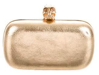 Alexander McQueen Metallic Skull Box Clutch