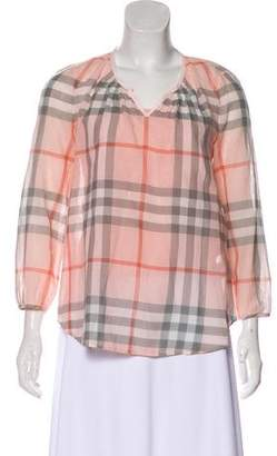Burberry Check Long Sleeve Top