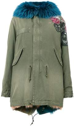 Mr & Mrs Italy embroidered parka jacket