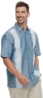 Big & Tall Havanera Linen-Blend Paneled Button-Down Shirt
