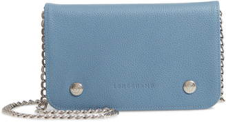 Longchamp Le Foulonne Leather Wallet on a Chain