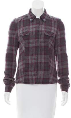 Authier Embellished Plaid Jacket
