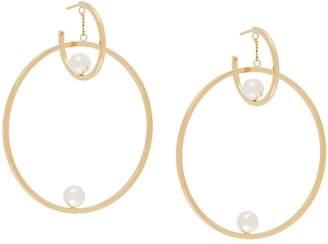 Chloé pearl hoop earrings