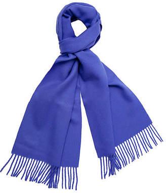 A & R Cashmere A&R Cashmere Men's Alpaca Wool Solid Scarf - Cobalt - a&R Cashmere
