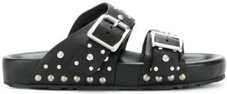 Alexander McQueen buckled slides