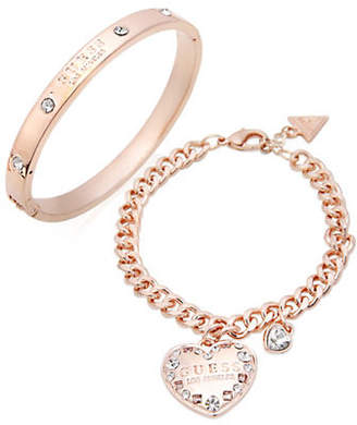 GUESS Two-Piece Crystal Bracelet