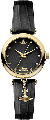 Vivienne Westwood Water Resistant Womens Black Vv108Bkbk Stainless Steel and Leather Watch