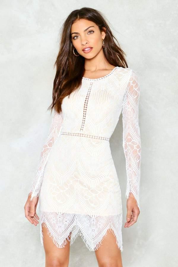 nastygal One More Night Lace Mini Dress