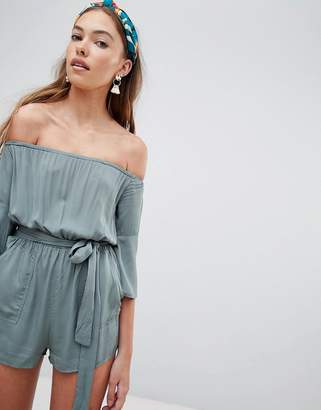Glamorous off shoulder playsuit