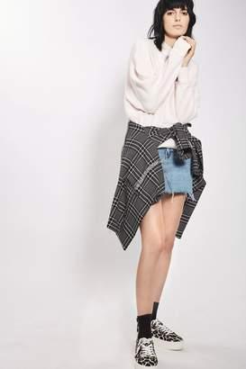 Topshop Moto mini denim skirt