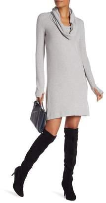 Joan Vass Velvet Cowl Neck Dress