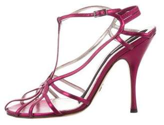 Dolce & Gabbana Metallic Leather Sandals