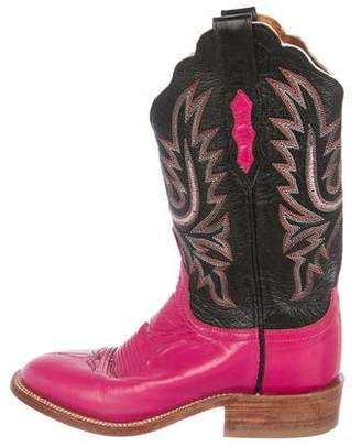 Lucchese Leather Mid-Calf Boots