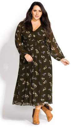 City Chic Citychic Gentle Floral Dress - military