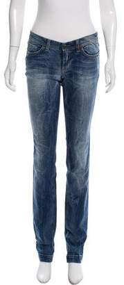 Dolce & Gabbana Low-Rise Distressed Jeans