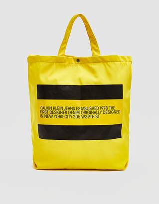 Calvin Klein Jeans Est. 1978 Est. 1978 Logo Tote in Yellow