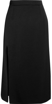 Lanvin - Satin Midi Skirt - Black $970 thestylecure.com