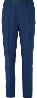 Navy Evering Linen Suit Trousers