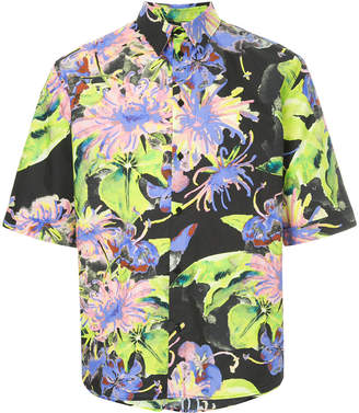 MSGM tropical print shirt