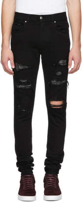Amiri Black Crystal Destroy Jeans