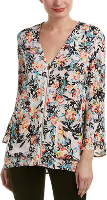 French Connection Delphine Crepe Top