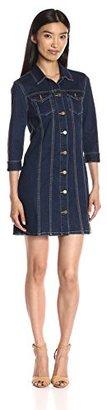 Calvin Klein Jeans Women's Trucker Dress $98 thestylecure.com