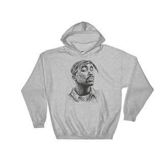 Gents Babes & Tupac Shakur 2pac Hoodie Sweater (Unisex) (2XL)