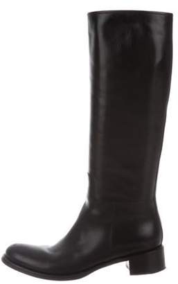 Prada Leather Riding Boots Black Leather Riding Boots