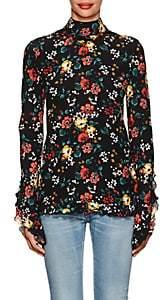 Derek Lam Women's Floral-Print Silk Blouse - Black Multi