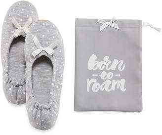 MIXIT Mixit Ballerina Slippers with Travel Pouch