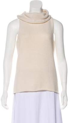 White + Warren Rib-Knit Cashmere Top
