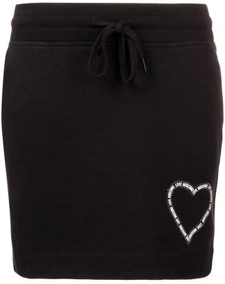 Love Moschino logo print skirt