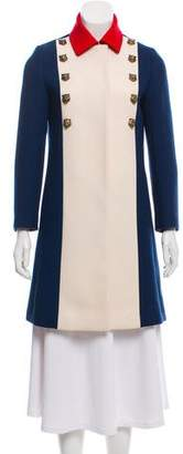 Gucci 2017 Colorblock Wool Coat w/ Tags