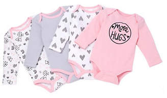 CHICK PEA Baby Girl's Set Of Four Cotton Bodysuit