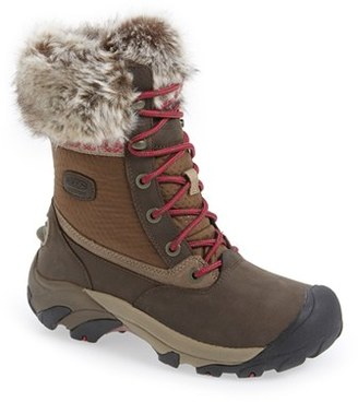 Women's Keen 'Hoodoo Iii Low' Faux Fur Trim Waterproof Boot $149.95 thestylecure.com
