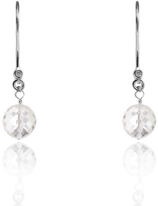 clear Kaizarin - April Birthstone Earrings In Quartz