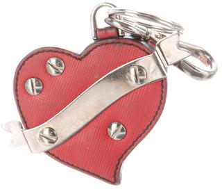 pradaPrada Saffiano Heart Bag Charm
