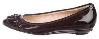 Loeffler Randall Patent Leather Ruffle Flats