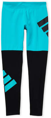 adidas Girls 7-16) Turquoise Color Block Leggings