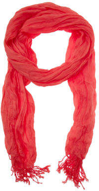 Basque NEW Crinkle Scarf Red