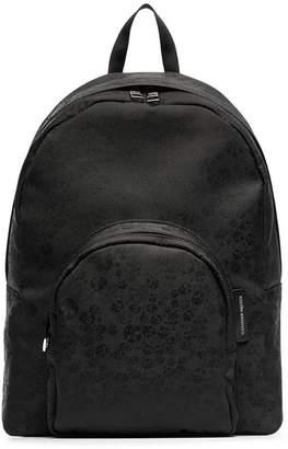 Alexander McQueen Black Skull-Jacquard Backpack