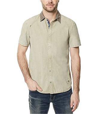 Buffalo David Bitton Men's Simogenat Short Sleeve Twill Button Down Shirt