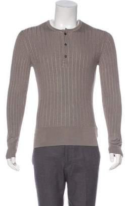 Tom Ford Long Sleeve Rib Knit Sweater