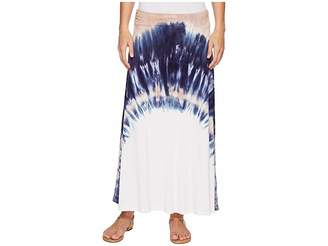 Tribal Soft Jersey Printed Maxi Skirt in Camelia Women's Skirt