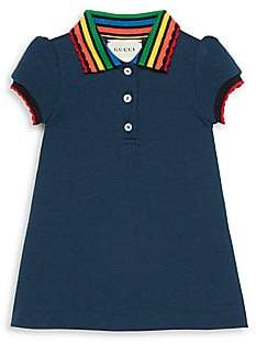 Gucci Baby's Rainbow Collar Short-Sleeve Shirt Dress