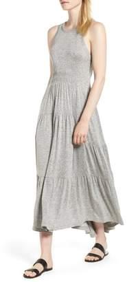 Lucky Brand Smocked Linen Blend Dress