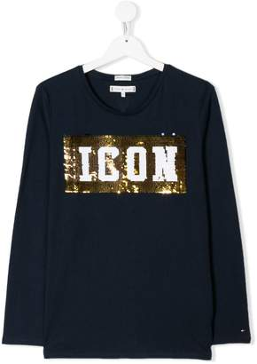 Tommy Hilfiger Junior sequin embellished sweater